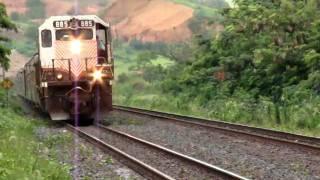 Trem de Passageiros da Vale chegando na Estação de Periquito-MG