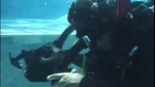 rebreather training on closed circuit scuba diving system