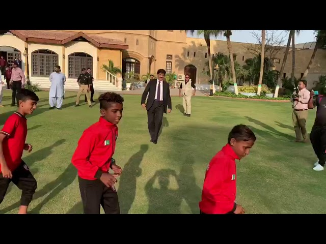 CM Sindh Playing Football | Capital TV | 21 March 2019