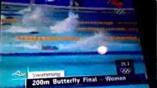 Misty Hyman wins gold 200 butterfly in 2000