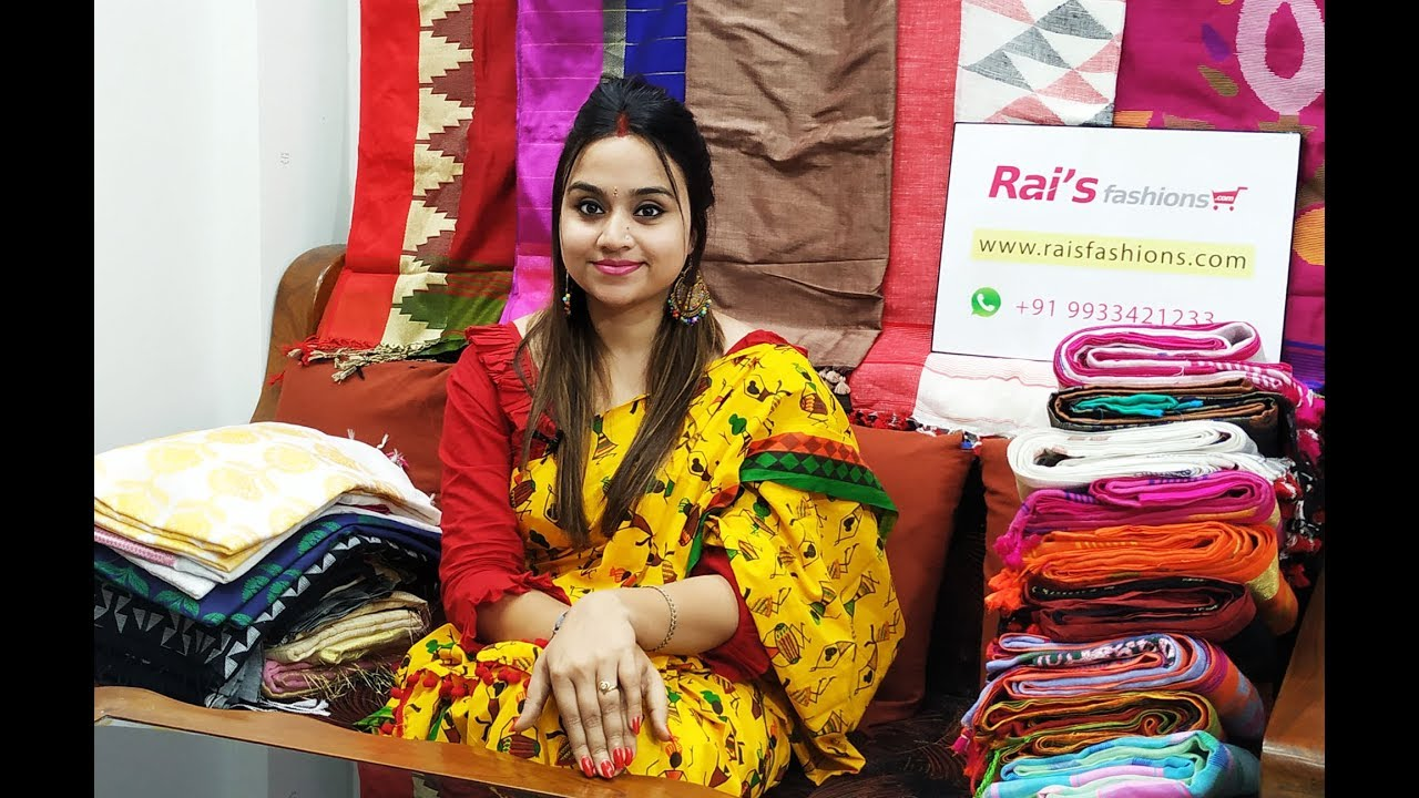 Step Into The Latest Handloom Sarees Collections Rai S Fashions 3rd July 2019 Youtube