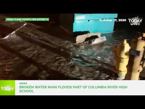 Broken water main floods part of Columbia River High School