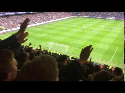 Celtic Fans mocking Rangers* by singing their Joe Garner song