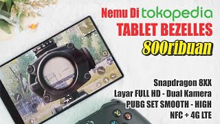 Tablet BEZELESS cuma 800rbu - Bisa Main PUBG.!! Unboxing