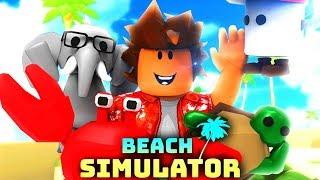 WE KOMEN JOB TEGEN OP HET STRAND?! | Roblox Beach Simulator