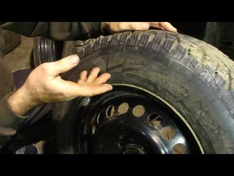 Замена летней резины на зимнюю своими руками в гараже!Replace summer to winter resiny!