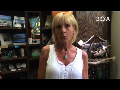 Debbie Taylor from The Blue Giraffe talking about the merchants of WaterColor! #30a #thebluegiraffe