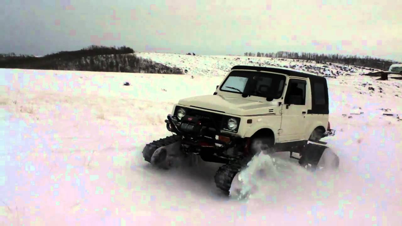 Tracks For Vehicles >> Suzuki Samurai with Camoplast Tatou 4s tracks - YouTube