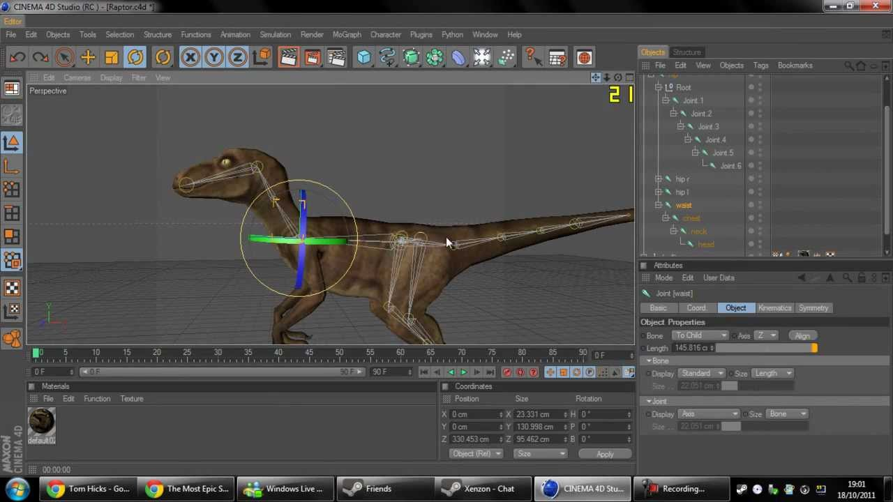Fully Rigged Raptor - Cinema 4D - Free Downoad - YouTube