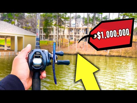 Fishing For BIG Bass In Front Of MILLION Dollar Mansions