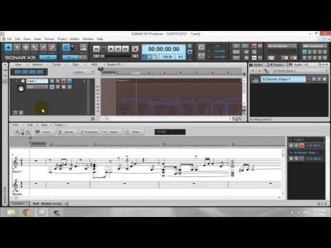 Fishman Triple Play for Notation and midi recording in Sonar X3