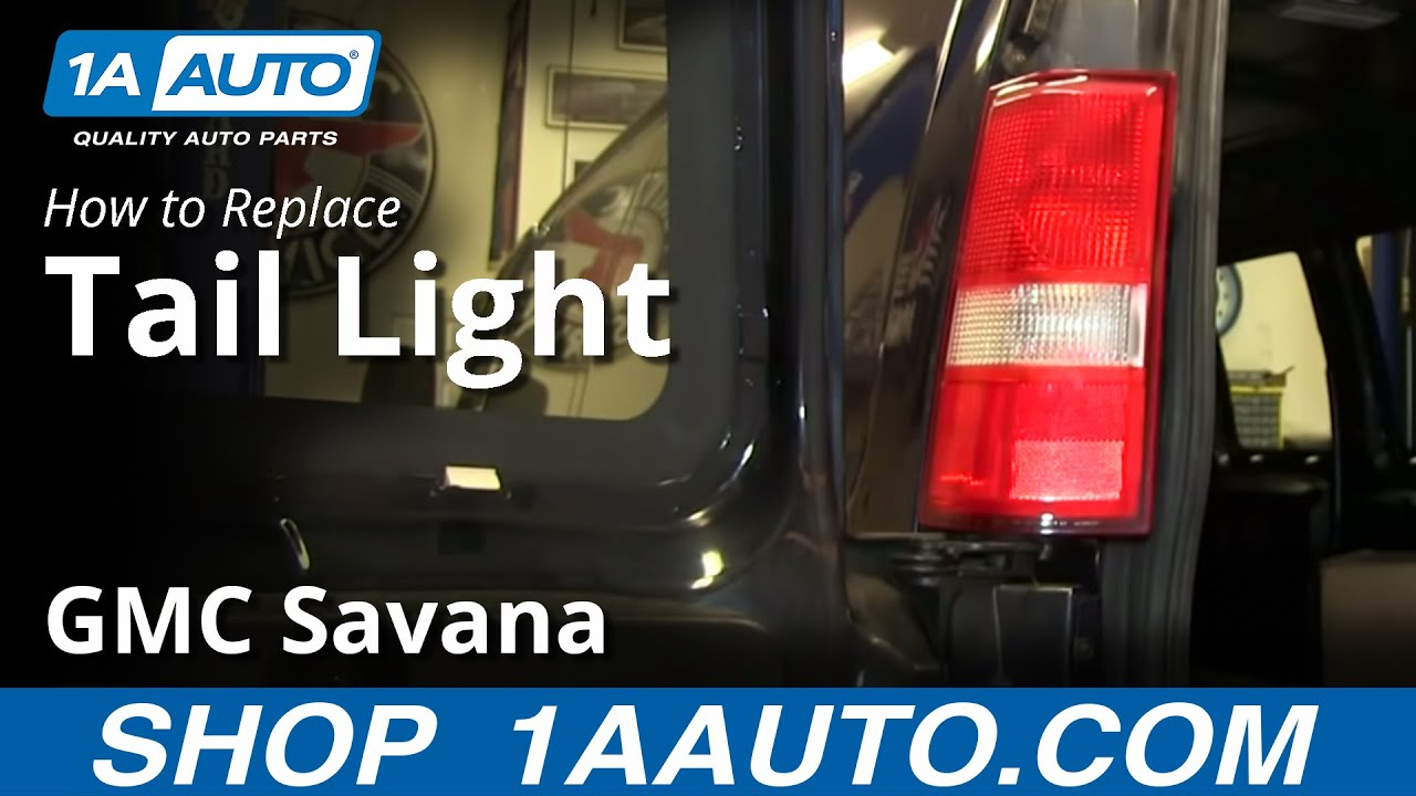 replace tail lights bulbs   gmc savana youtube