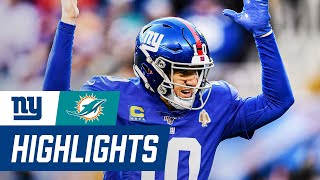 Eli Manning Touchdowns & Full Highlights from THRILLING win over Miami | Giants vs. Dolphins Week 15