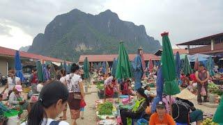 ตะลอนไปใน Vietnam EP4:ตลาดแลงเมืองคำเกิด(หลักซาว) ของป่า ของพื้นเมืองนานาชนิด แม่ค้าหลายคัก