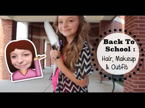 Watch First Day Of School Hair Makeup Outfit Collab full online ...
