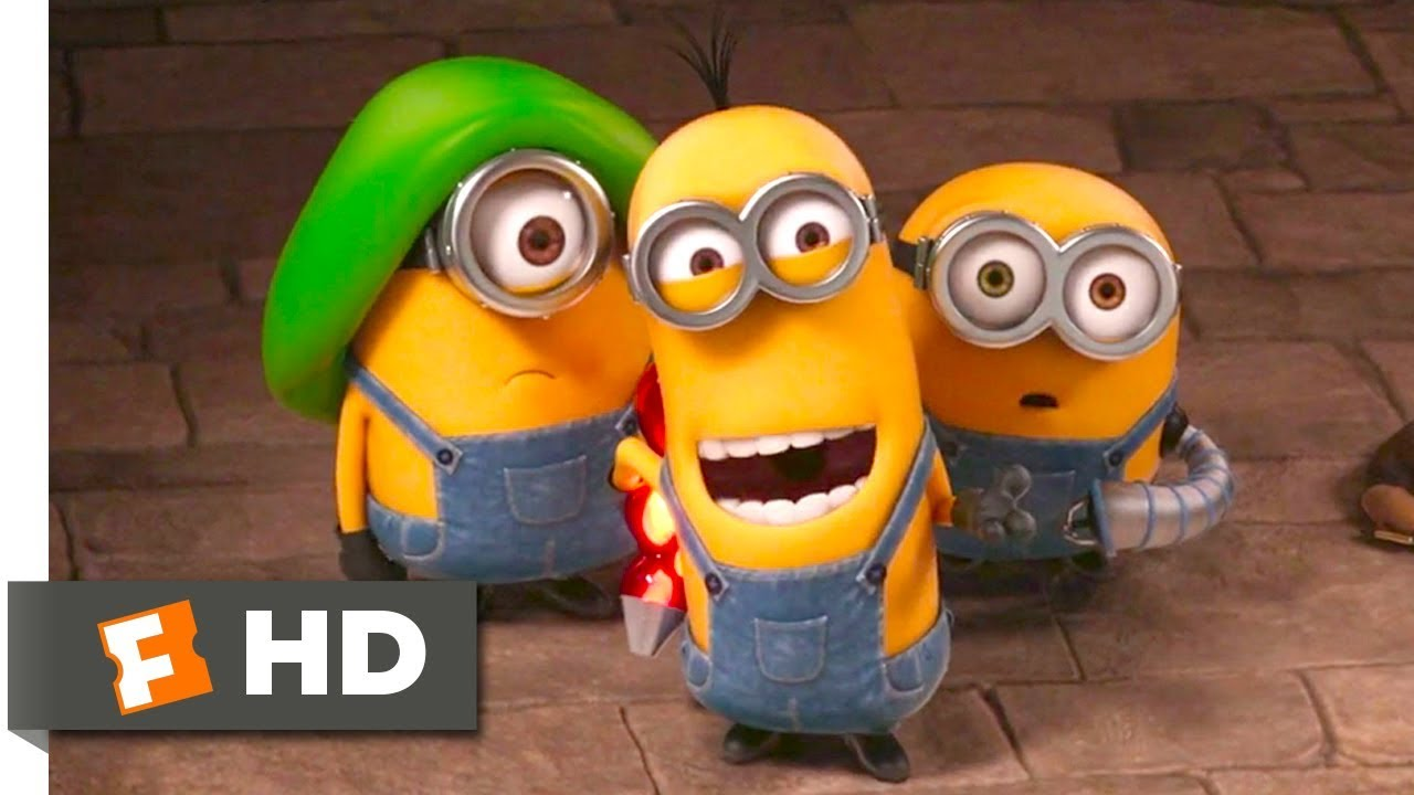 Minions Hypnotizing The Guards Scene Fandango Family Youtube
