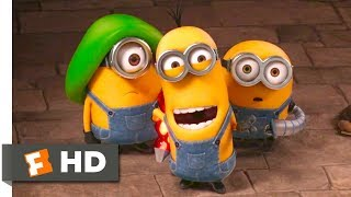 Minions - Hypnotizing The Guards Scene | Fandango Family