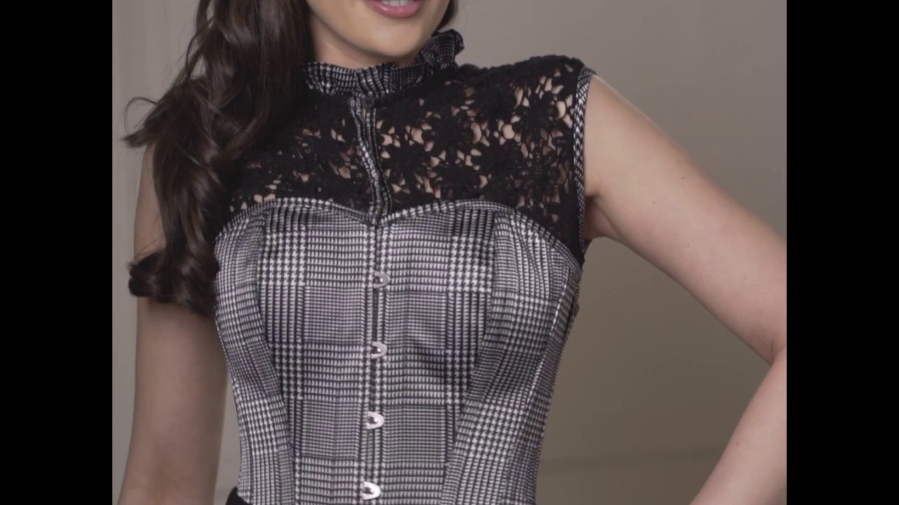 e4f9c715e4f0a HOUNDSTOOTH AND CROCHET CORSET TOP - YouTube
