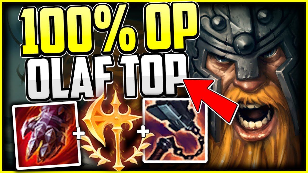 This Olaf Top Build Turns Him Into A Top Lane God Olaf Guide Season 11 League Of Legends Youtube