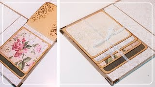 [TUTO]  Technique de pages en CASCADE / Scrapbooking - Wedding Album Part2