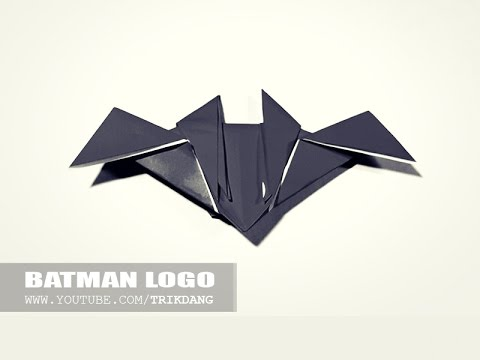 How To Make An Easy Origami For Kids Batman Logo Youtube