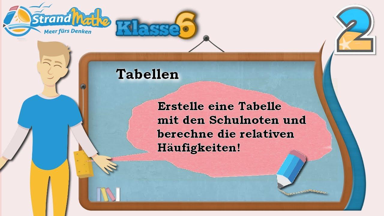 Tabellen erstellen    Klasse 6 ☆ Übung 2 - YouTube