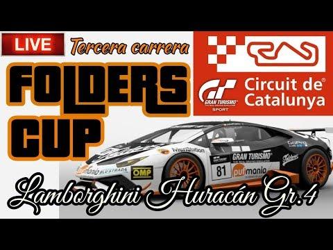 🔴 Directo de Gran Turismo Sport - FOLDERS CUP #3 | Lamborghini Huracán Gr.4 , Circuito de Cataluña thumbnail