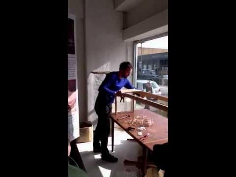 Paper cording in Melbourne showroom