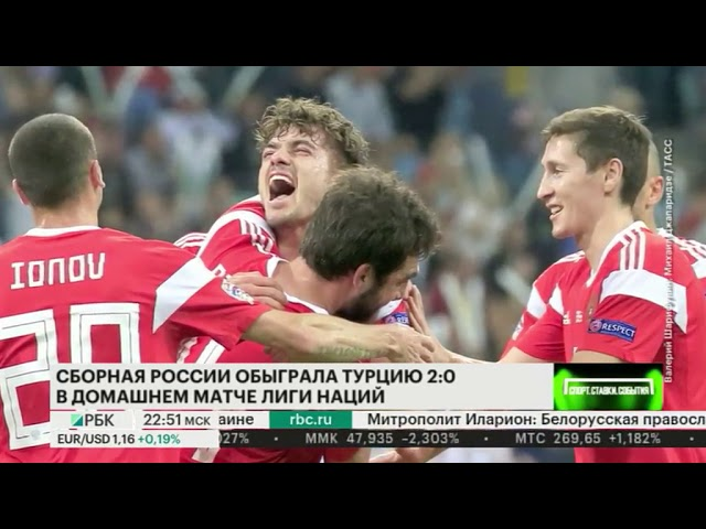 Итоги матчей сборной России в Лиге наций