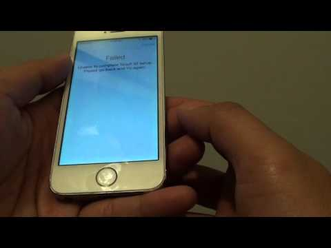 iPhone 5S: Error Failed Unable to Complete Touch ID Setup
