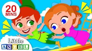 Peter Pan e Sininho, Bebê Tubarão e mais! | Vídeos Infantis | Little Angel