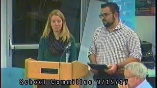 School Committee 9 -19 -2017