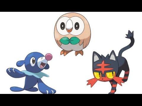 Dessin Pokemon Starter Lune Et Soleil Youtube