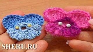 How To Crochet Pansy Flower  Урок 64 часть 2 из 2 Вязаная фиалка