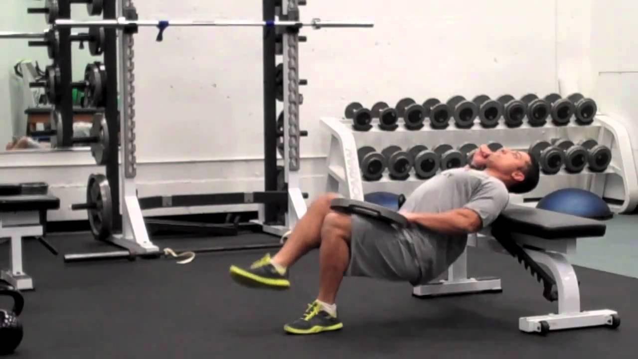 1 LEG HIP LIFT OFF BENCH WITH WEIGHT - YouTube
