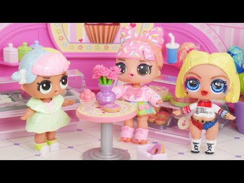 Barbie Doll LOL Family Cupcake After School Routine Bedtime