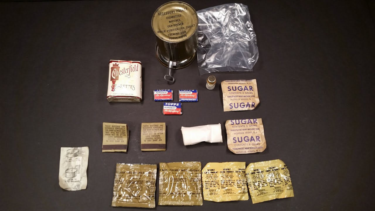 1951 Korea Ration Combat Individual Accessory Packet Can Vintage MRE Food  Ration Review