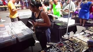 Maywood Street Fair, Maywood NJ Flea Market Set Up - 8/17/14
