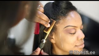 Silk Press on Long Natural Hair | Hair Makeover #7 | Feat. Young Head Beats | Los Angeles salon
