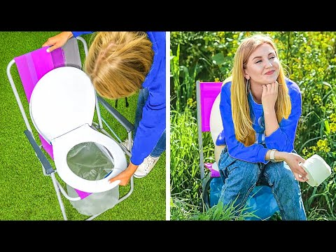 GENIUS OUTDOOR HACKS AND TRAVELLING DIYS || Summer Hacks And Funny Vacation Tips by 123 Go! Live