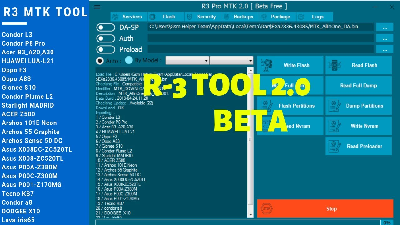 R3 MTK Tool 2 0 Beta | R3 MTK Tool V2 0 Beta Free | R3 Tool V2 0 Free  Download 100% Tested