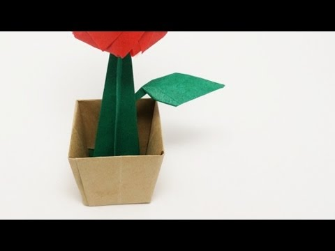 How to Make Paper Flowers and Origami Flower Pots | Origami fish ... | 360x480