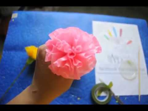 how to make carnation paper flowers