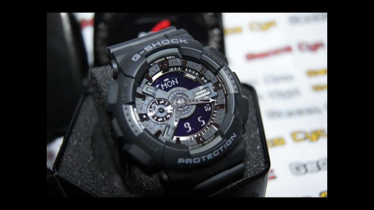 Casio G-Shock GA-110-1B Unboxing [Gecco Cyc:Largest Watch ...
