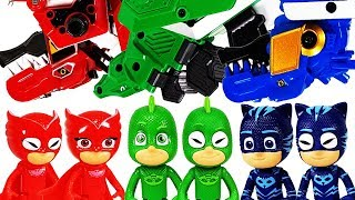 PJ Masks, Transform into Dino Robot and fight against Villains~!