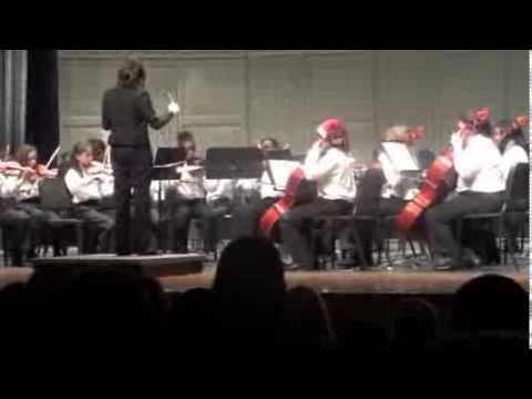 Spillane Middle School 2013 Christmas Symphony performance
