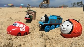 thomas n friends toy trains disney cars mcqueen egg surprise wooden railway n james