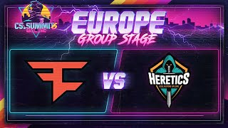 FaZe vs Heretics (Train) - cs_summit 6 Online: EU Group Stage - Game 2