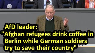 Controversial Bundestag speech by AfD's Alexander Gauland about German army mission in Afghanistan
