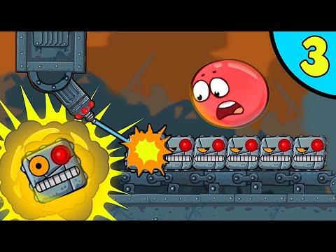 """Мультик Красный Шар """"Фабрика Подрывателей"""". Веселая ОЗВУЧКА несносный шарик от Спуди - Red Ball 4 ."""